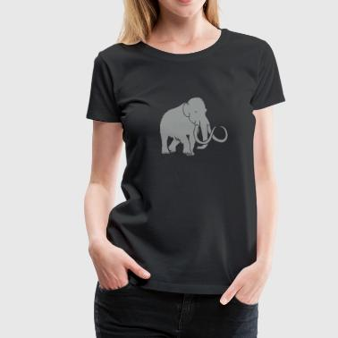 mammoth elephant stone age cave hunter outdoor - Women's Premium T-Shirt