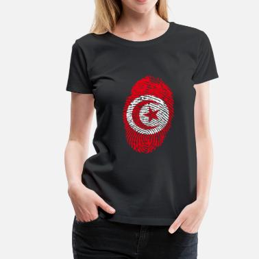Tunisia Tunisia fingerprint - Women's Premium T-Shirt