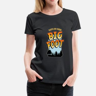 Bigfoot Bigfoot Suche Lustiges Sasquatch Bild - Frauen Premium T-Shirt