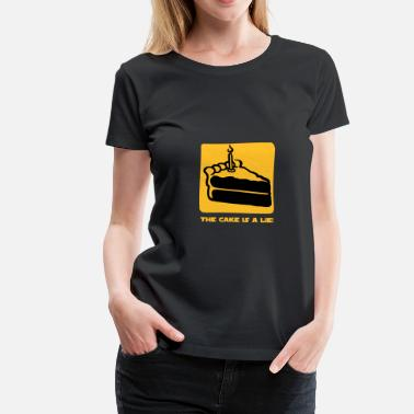 Aperture Science The Cake is a Lie - Women's Premium T-Shirt