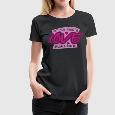 i love dogs dog love - Women's Premium T-Shirt