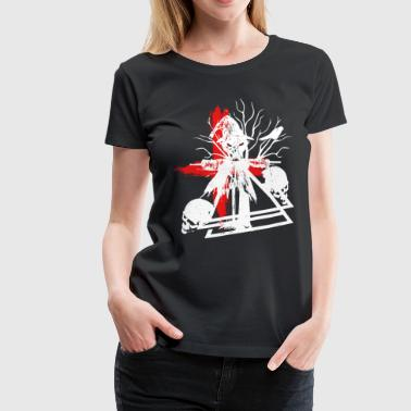 Trashes Scarecrow with skulls shirt - Women's Premium T-Shirt