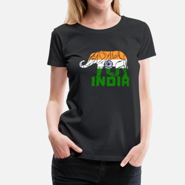 Rupee India elephant / flag gift national color - Women's Premium T-Shirt