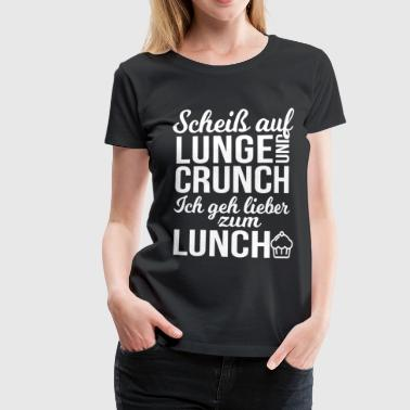 Fitness - Lunch & Crunch - Frauen Premium T-Shirt