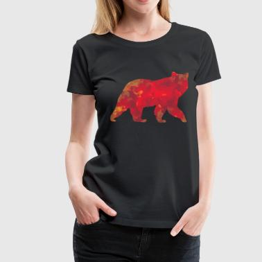 Wild Grizzly Bear watercolor - Women's Premium T-Shirt