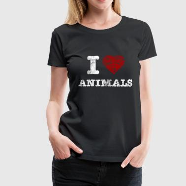 i_love_animals_vintage_hell - T-shirt Premium Femme