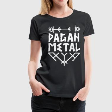 Pagan Metal with Viking knots - Women's Premium T-Shirt