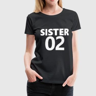 Syster 2, ord, syster, cool - Premium-T-shirt dam