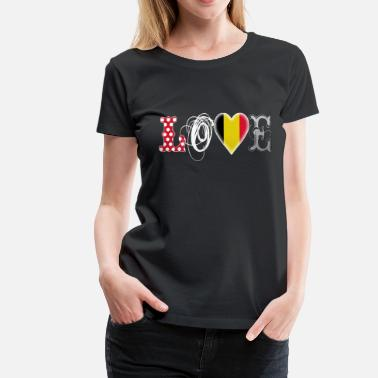 Eurovision Song Contest Love Belgium White - Women's Premium T-Shirt