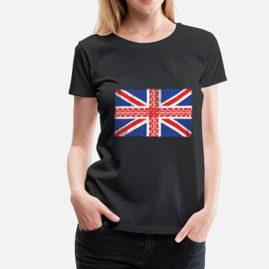 Motorbike Kids UK Flag Motorbike Gift - Women's Premium T-Shirt