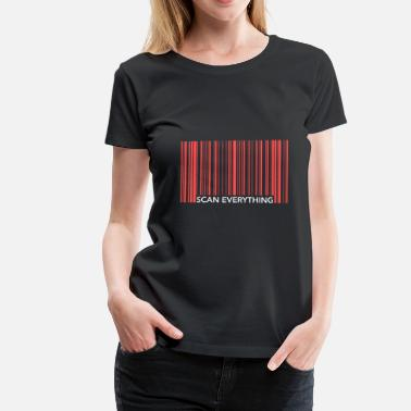 Scan Funny Barcode Scan Todo - Camiseta premium mujer