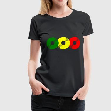 Reggae records - Women's Premium T-Shirt