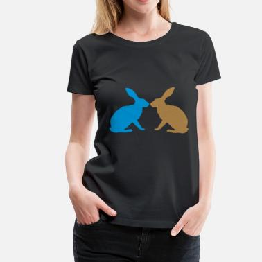 Thumper bunny rabbit together couple love easter - Women's Premium T-Shirt