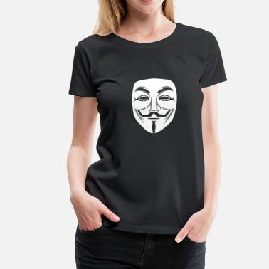 Anonymous Maske An Anonymous/Guy Fawkes maske 2clr - Frauen Premium T-Shirt