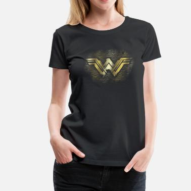 Wonder Woman  Bros Wonder Woman Gold Logo Geometric - Premium T-skjorte for kvinner
