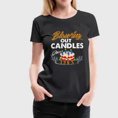Blowing Out Candles Since 1983 - Women's Premium T-Shirt