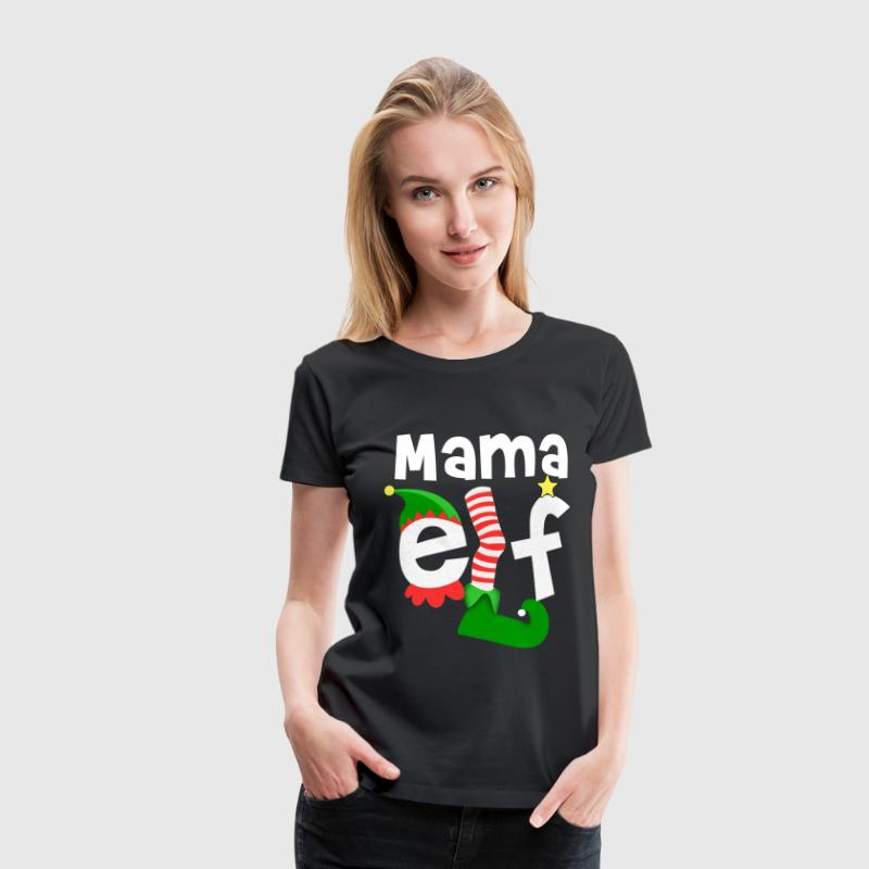 Mama Elf Christmas - Frauen Premium T-Shirt