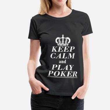Casino Poker, blackjack, geld, Flush, Ace, Risk, King, Jack - Vrouwen Premium T-shirt