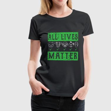 Animal Vegan animal protection shirt - Women's Premium T-Shirt