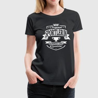 sportlerin - Frauen Premium T-Shirt