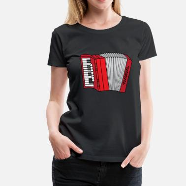 Geluk Accordeon Accordeon Volksmuziek musi Zieharmonika - Vrouwen Premium T-shirt