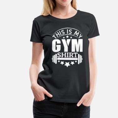 Hantel Comic Gym Fitnessstudio Muskeln Hantel Body building - Frauen Premium T-Shirt