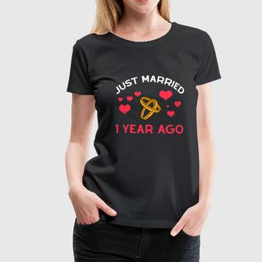 Husband 1 Year Together Just Married anniversary Gift - Frauen Premium T-Shirt