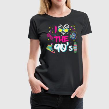 I Love the 90s / Nineties / Mottoparty / Retro / Party - Women's Premium T-Shirt