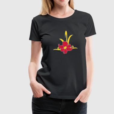 tatouage tribal patjila orchidées - T-shirt Premium Femme
