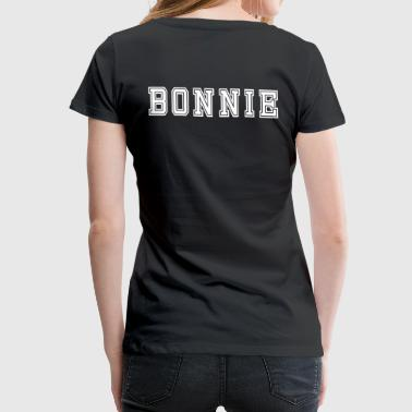 Bonnie And Clyde Valentine's Day Matching Couples Bonnie Jersey - Women's Premium T-Shirt