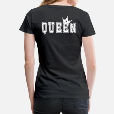 Couples Valentine's Matching Couples Queen Jersey - Premium-T-shirt dam