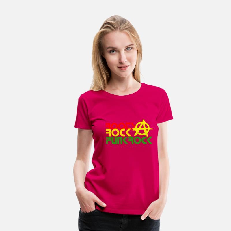 31794e95 ROOTS ROCK PUNKROCK, anarki Premium T-skjorte for kvinner | Spreadshirt