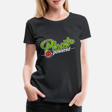 Plant Milk Vegan - Plant Powered (Tomato) - Women's Premium T-Shirt
