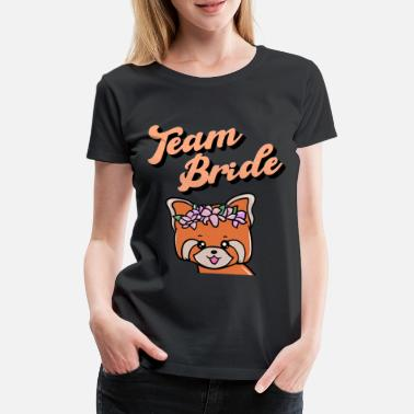 Maid Of Honor Hen party red panda, team bride - Women's Premium T-Shirt