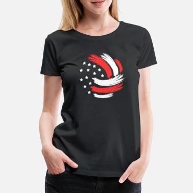 Volleyballer Volleyball USA Beach Volley Amerika Geschenk - Frauen Premium T-Shirt