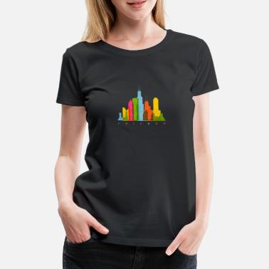 Skyline Chicago City Origin Nation - Premium T-skjorte for kvinner