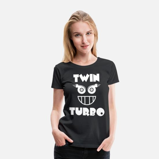 Birthday T-Shirts - Turbo Boost Face. Funny tuner turbo shirt. - Women's Premium T-Shirt black