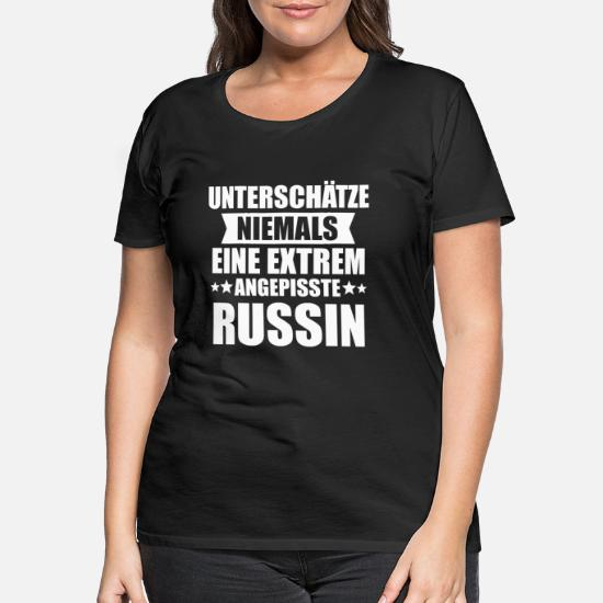 Russin Russisch Russland Russen Geschenk Frauen Premium T Shirt Schwarz