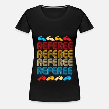 Referee Dommer Gul Rød Kort Kostume Ball Vente T shirt sort