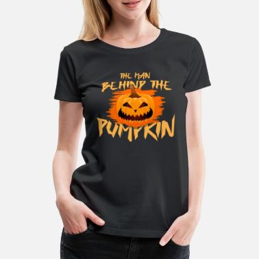 Carri The Man Behind The Pumpkins Pregnancy Halloween - Women's Premium T-Shirt