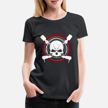 Disk Jockey Music skull headphones - Women's Premium T-Shirt