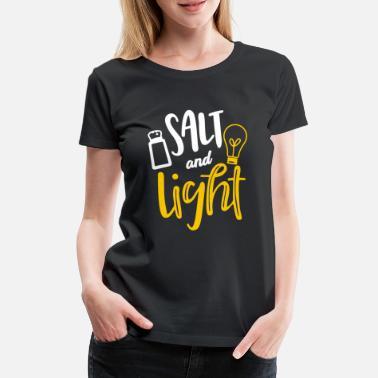 64690214 Christian Klær Salt og Light Christian T-skjorte Klær Design - Premium T- skjorte