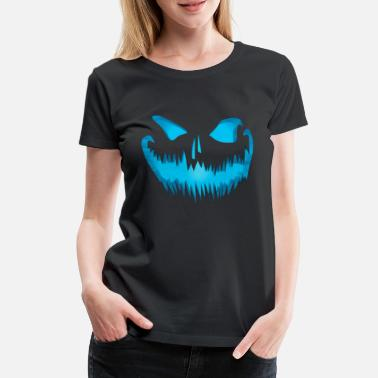 Toddler Evil pumpkin face look devil face - Women's Premium T-Shirt