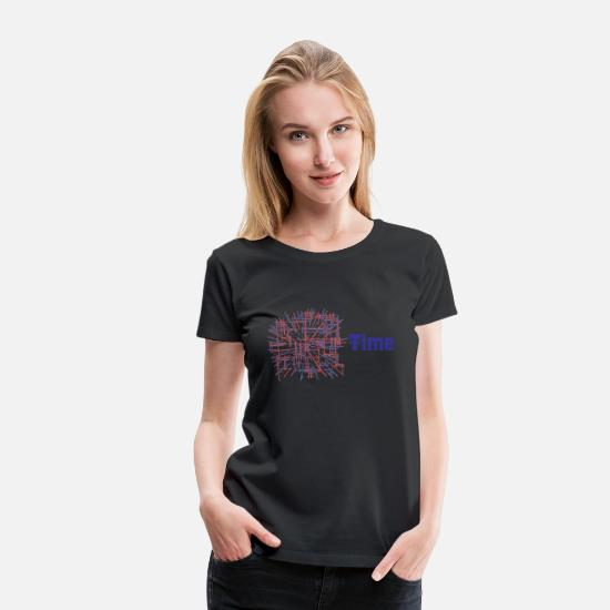 Chi T-Shirts - Time - Women's Premium T-Shirt black