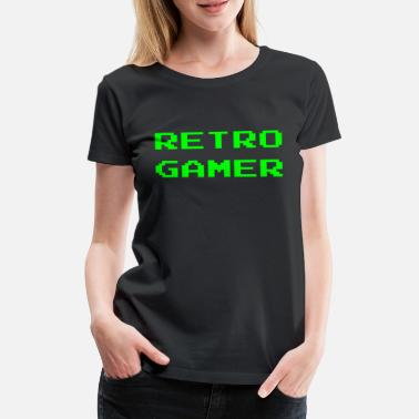 Video Game Retro Gamer Cool Old School Arcade Video Gaming - Women's Premium T-Shirt
