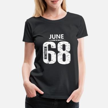 1968 June 1968 Jersey Number - Women's Premium T-Shirt