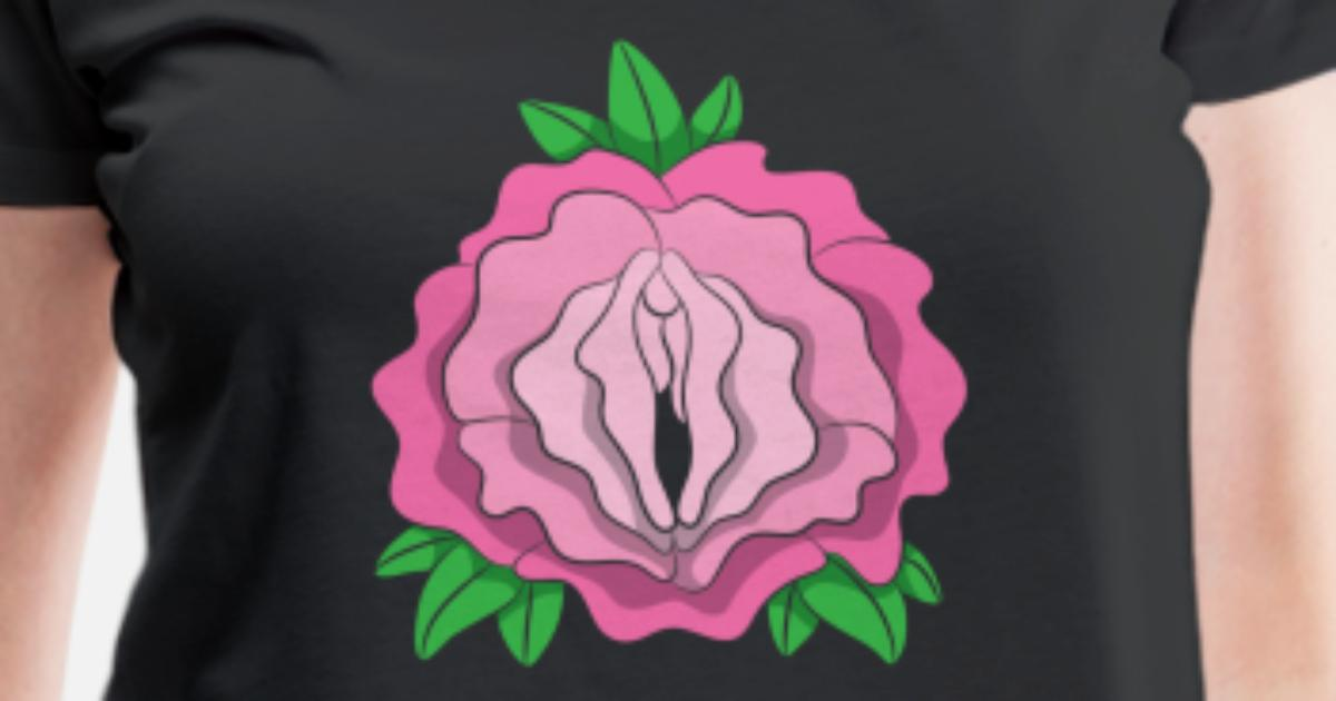 Rosen Muschi Shirt Scheiden Blume Vagina Pflanze Frauen