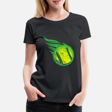 Tennis Ball Tennis Fire Ball Tennis Ball - Women's Premium T-Shirt