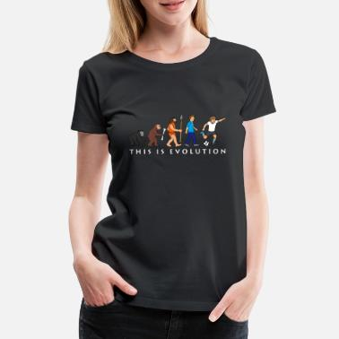 Evolution evolution_fussball_comic_a - Frauen Premium T-Shirt