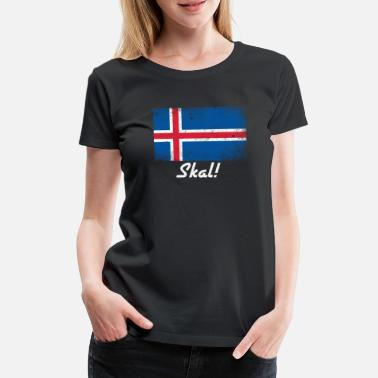Scandinavian Skal Norwegian Flag Friendship Scandinavian Toast - Premium T-skjorte for kvinner